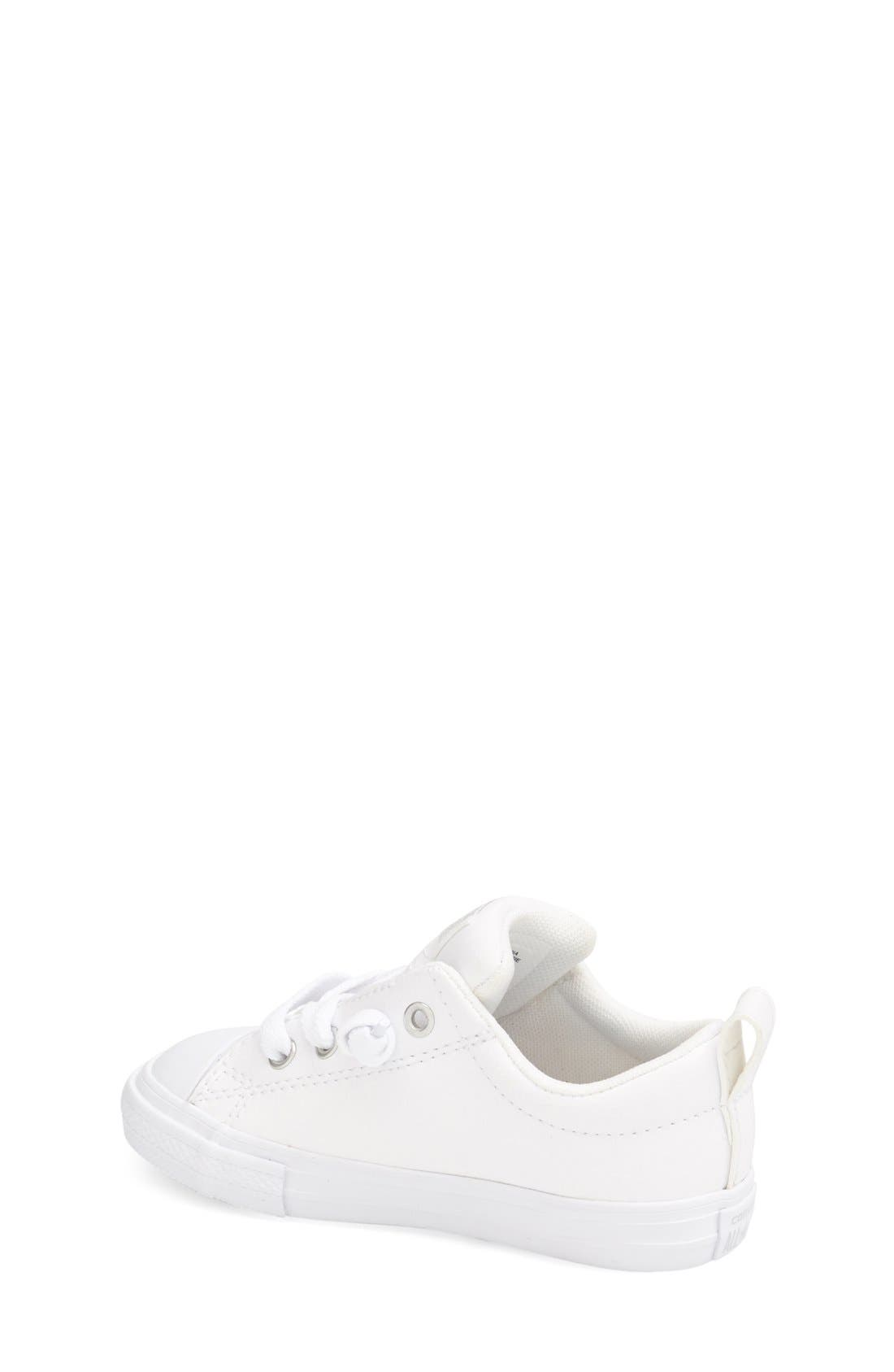Alternate Image 2  - Converse Chuck Taylor® All Star® Ox Faux Leather Sneaker (Toddler, Little Kid & Big Kid)
