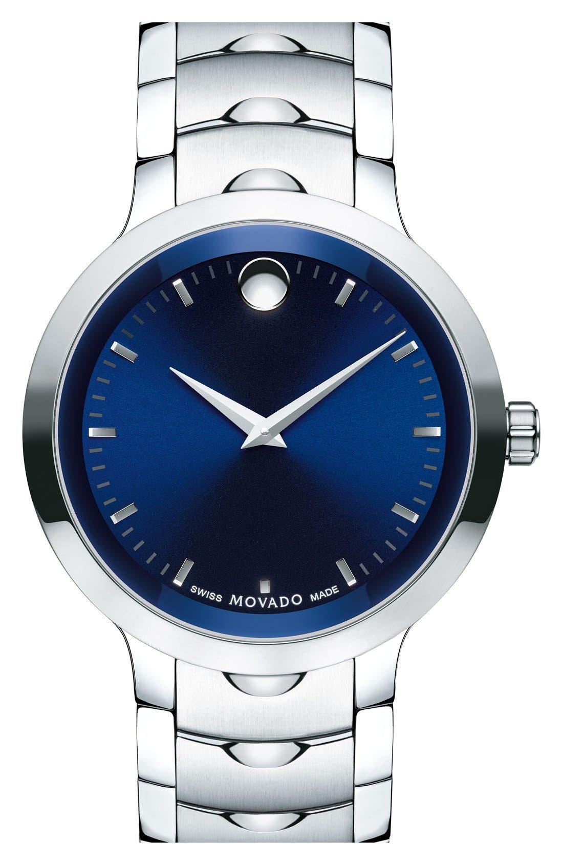 Movado 'Luno' Bracelet Watch, 40mm