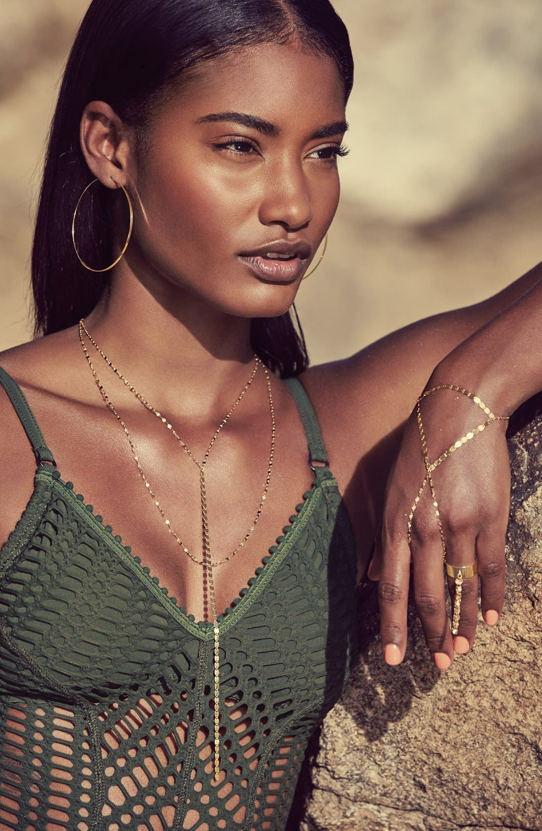 Alternate Image 3  - Lana Jewelry 'Large Flat Magic' Hoop Earrings