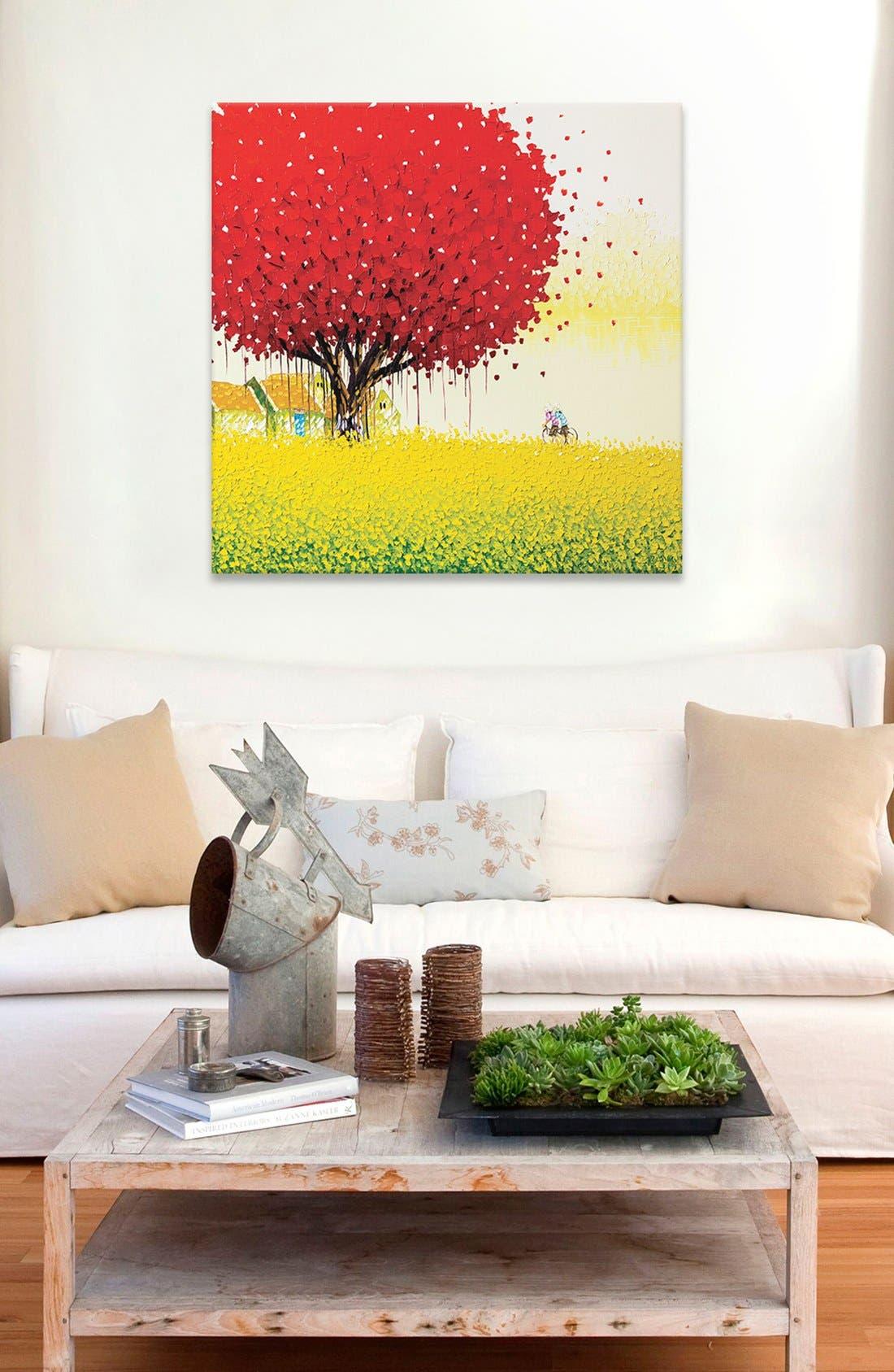 'Golden Season' Giclée Print Canvas Art,                             Alternate thumbnail 2, color,                             Red