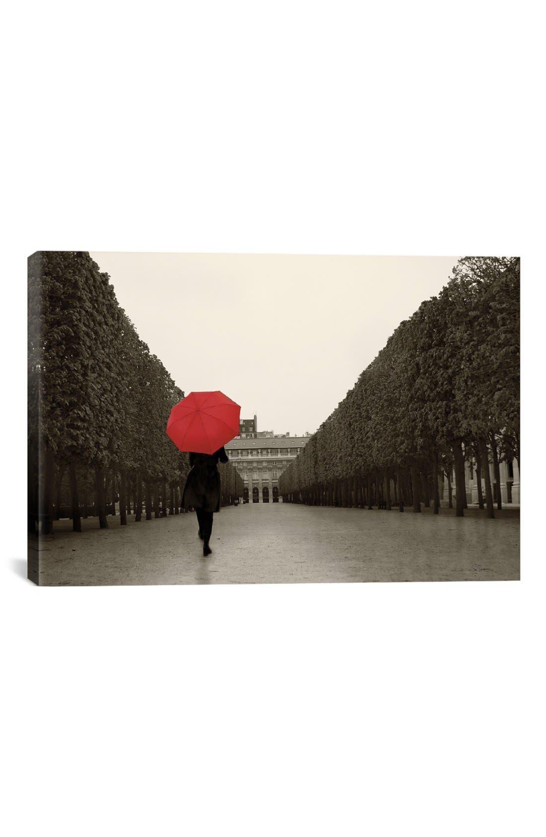 'Paris Stroll' Giclée Print Canvas Art,                         Main,                         color, Black