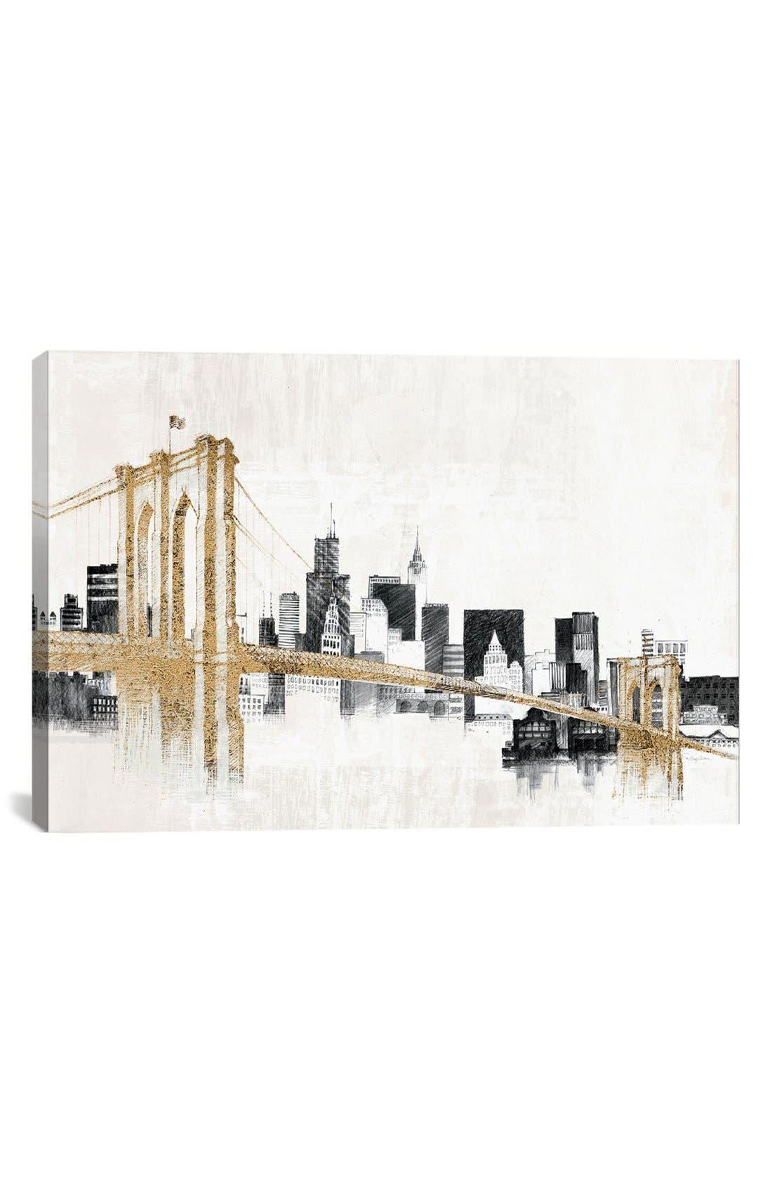 'Skyline Crossing' Giclée Print Canvas Art,                         Main,                         color, White