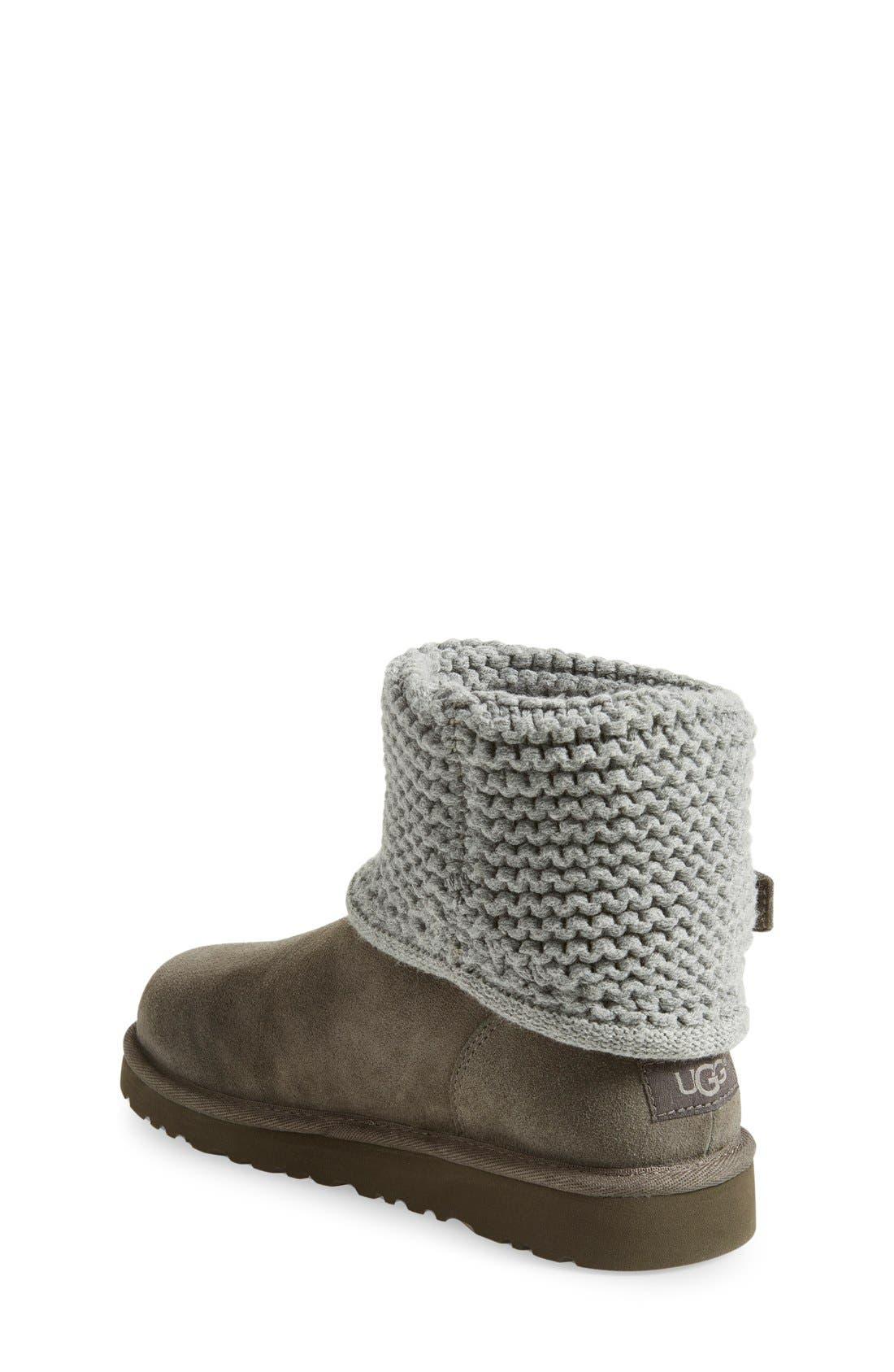 Alternate Image 2  - UGG® Darrah Purl Knit Cuff Boot (Little Kid & Big Kid)