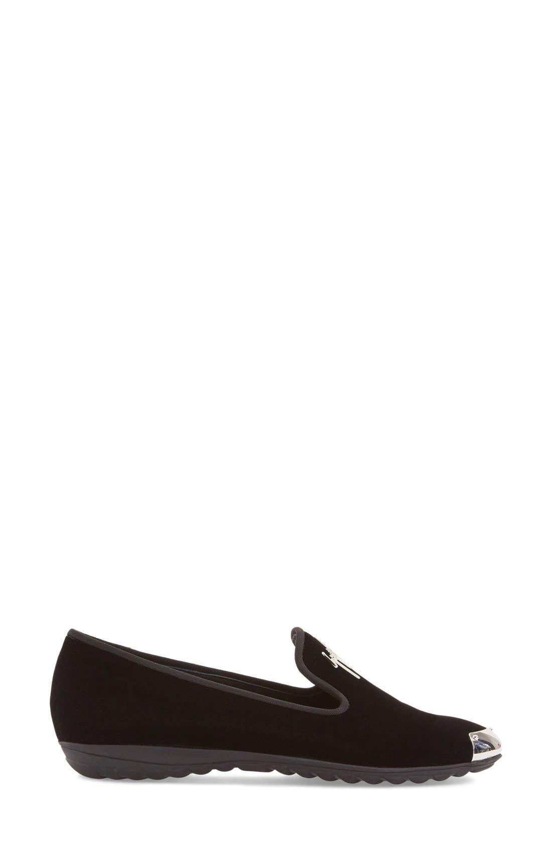 Alternate Image 4  - Giuseppe Zanotti 'Dalila' Metallic Toe Velour Loafer (Women) (Nordstrom Exclusive)