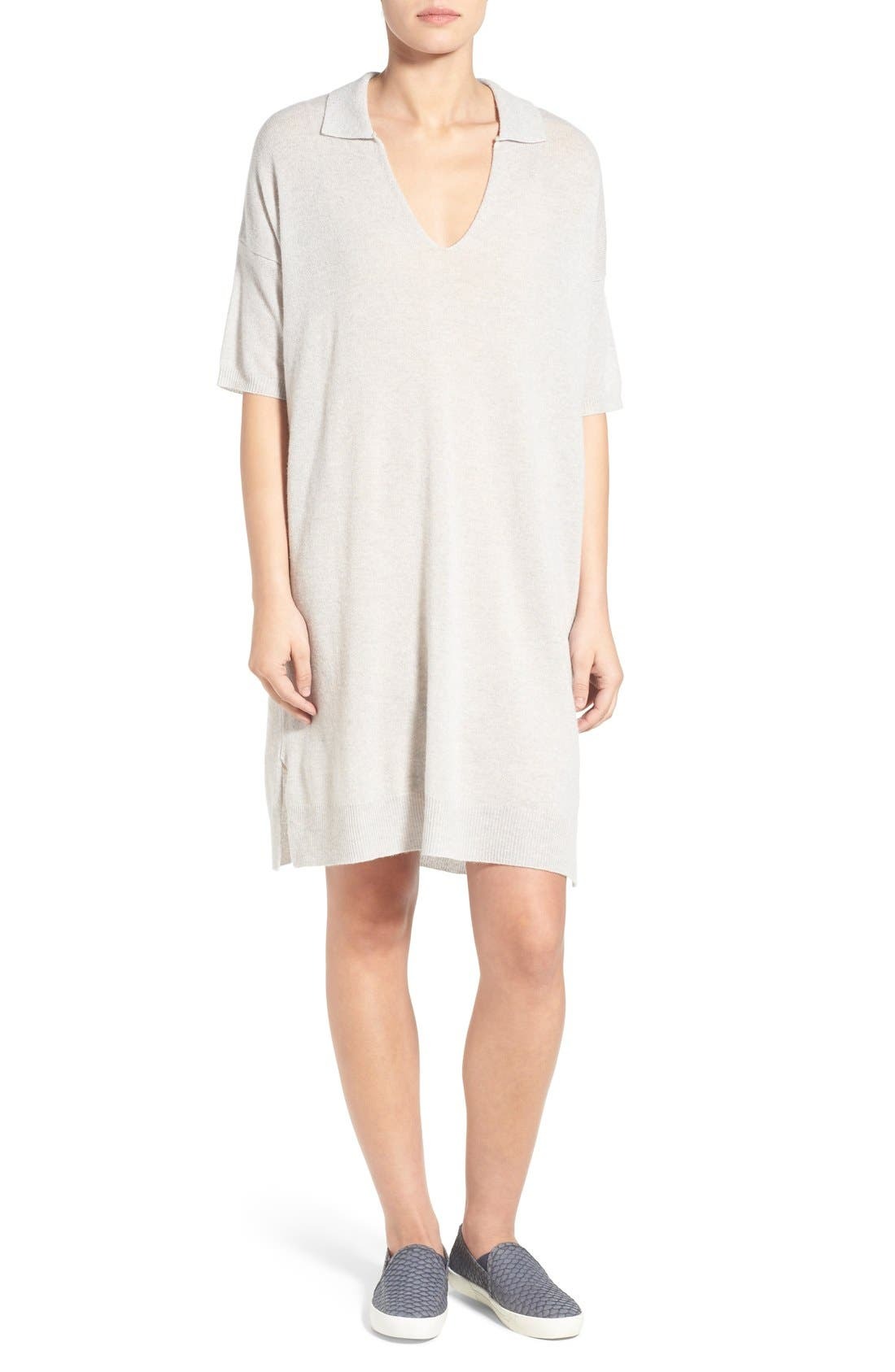 James Perse Oversize Cashmere Shift Dress
