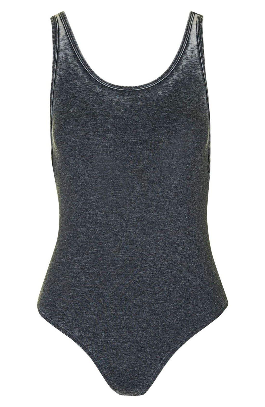 Alternate Image 4  - Topshop Acid Wash Bodysuit