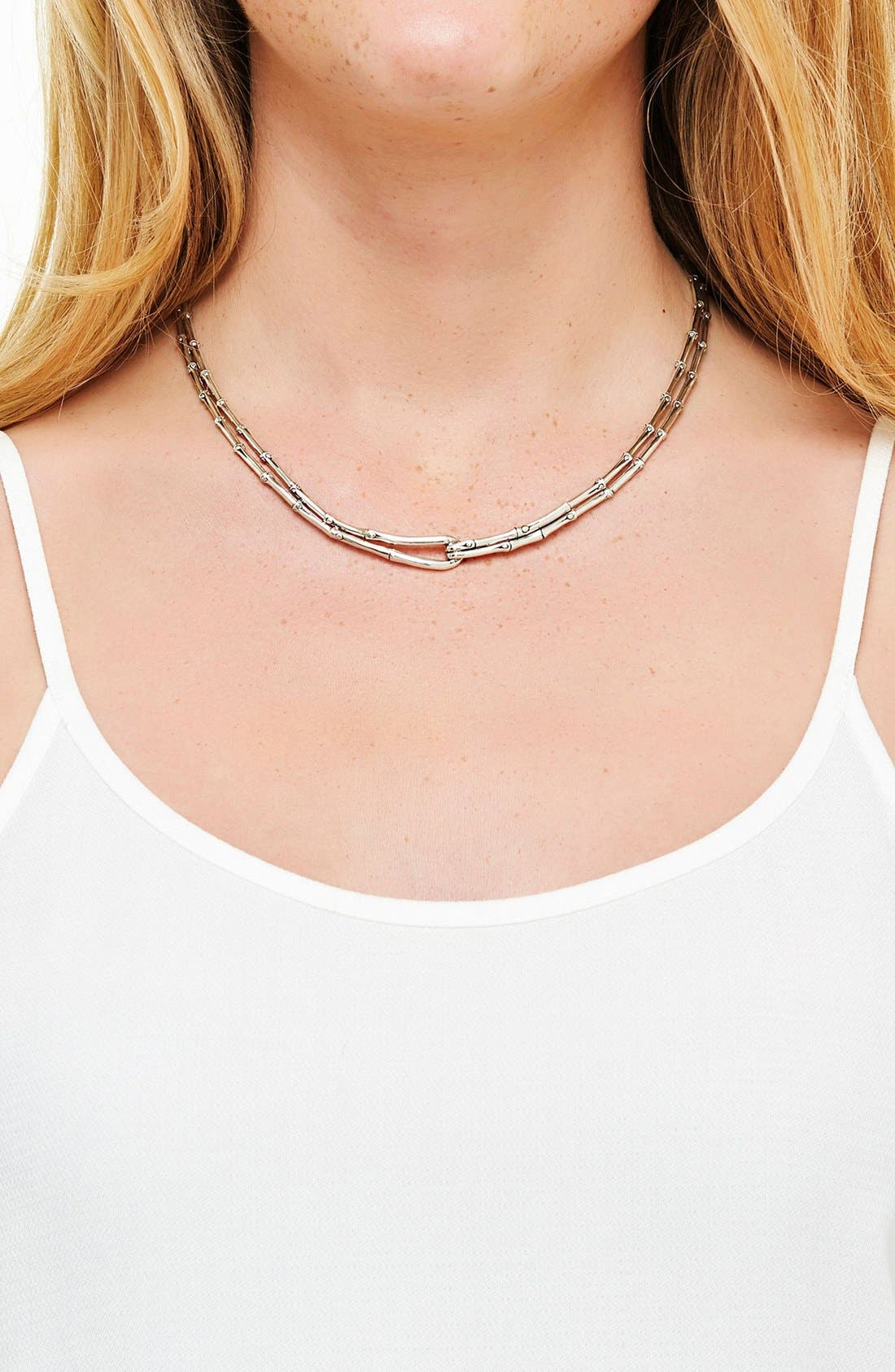 'Bamboo' Necklace,                             Alternate thumbnail 2, color,                             Silver