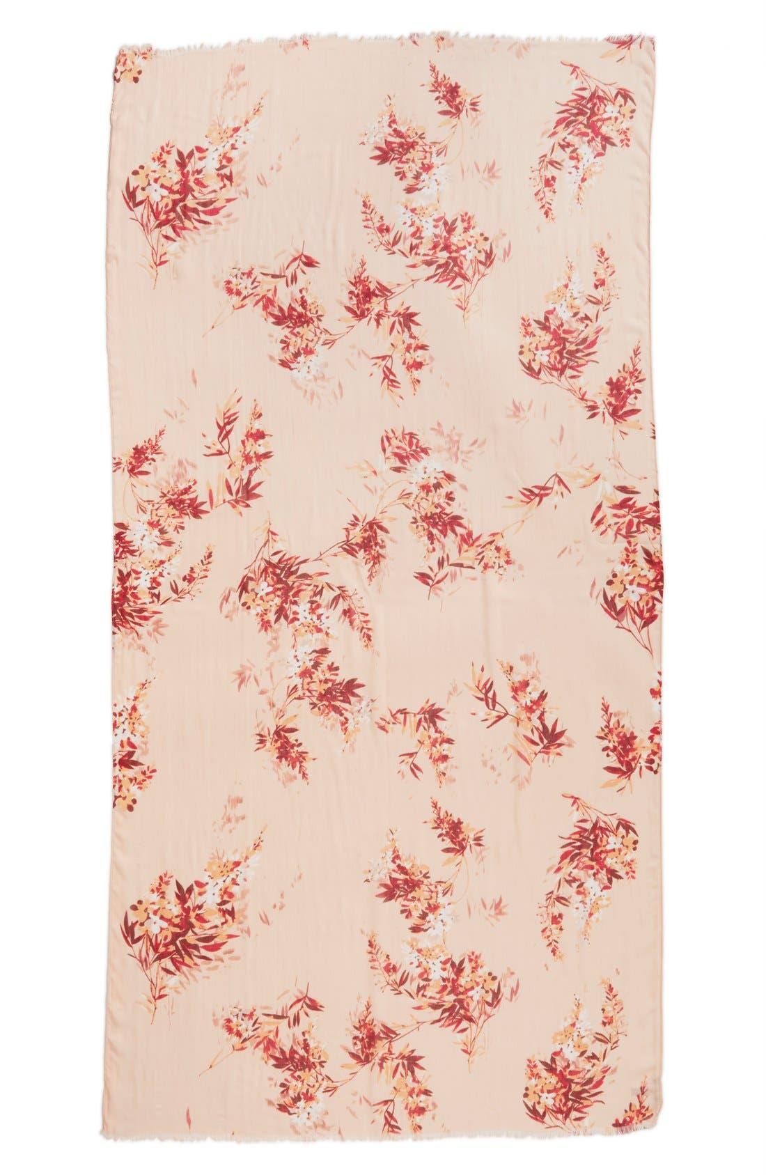 Alternate Image 2  - Nordstrom 'Blurred Blossoms' Scarf