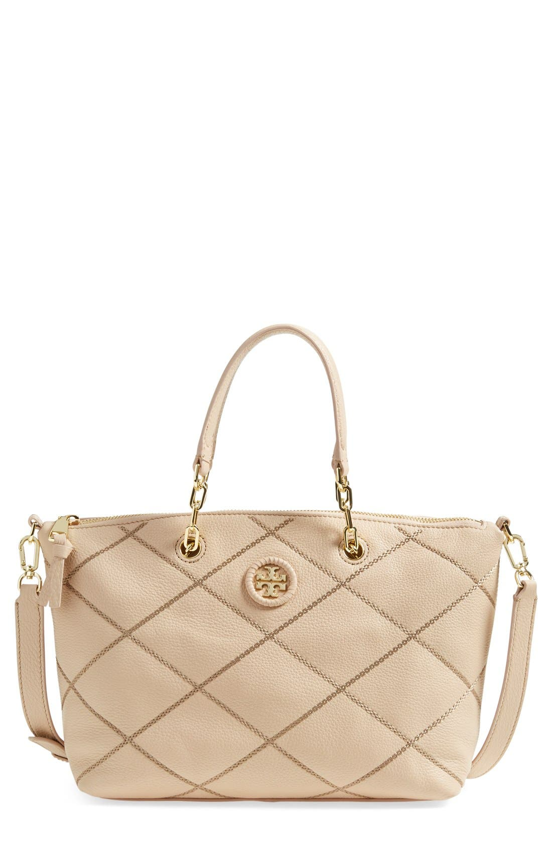 Main Image - Tory Burch 'Small Stitch' Leather Satchel (Nordstrom Exclusive)
