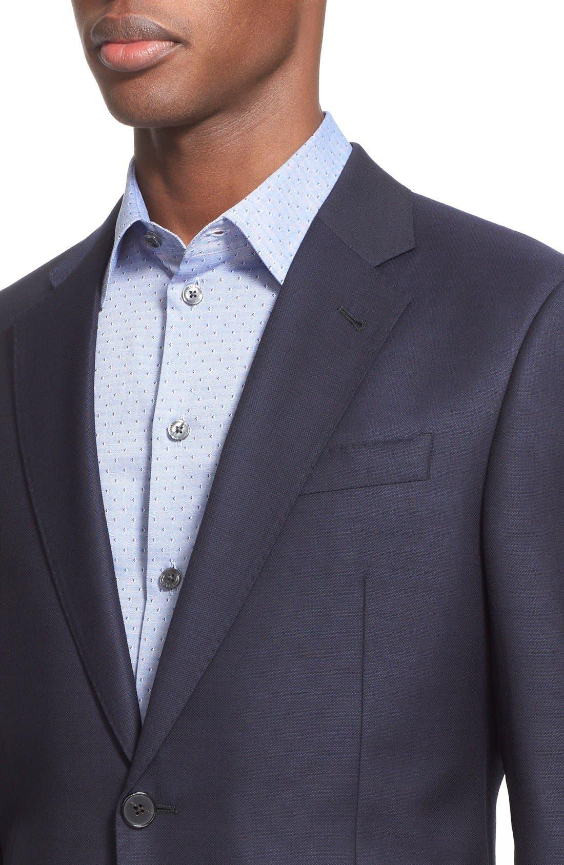 Alternate Image 4  - Armani Collezioni G-Line Trim Fit Wool Blazer