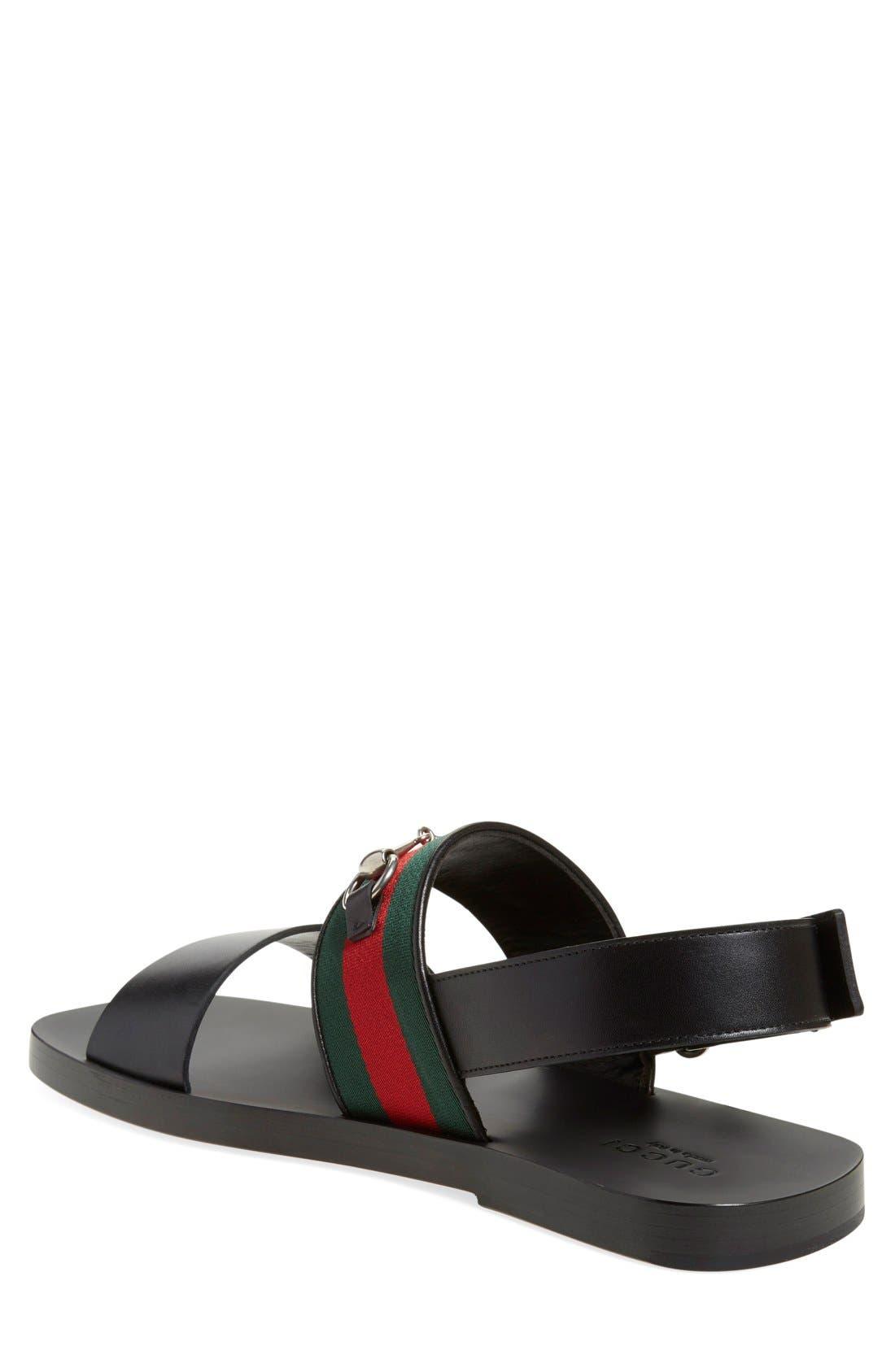 Alternate Image 2  - Gucci 'Twelve Strap' Sandal (Men)