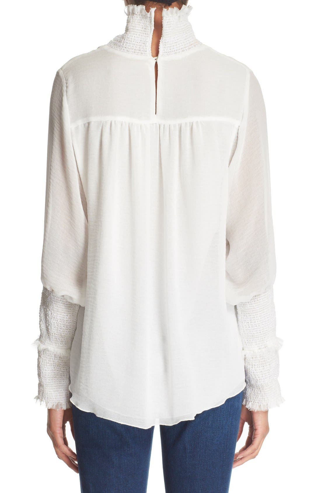 Alternate Image 2  - See by Chloé Smocked High Neck Blouse