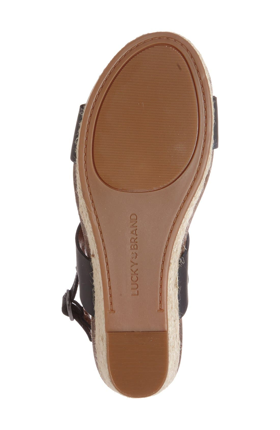 Alternate Image 4  - Lucky Brand 'Jette' Wedge Sandal (Women)