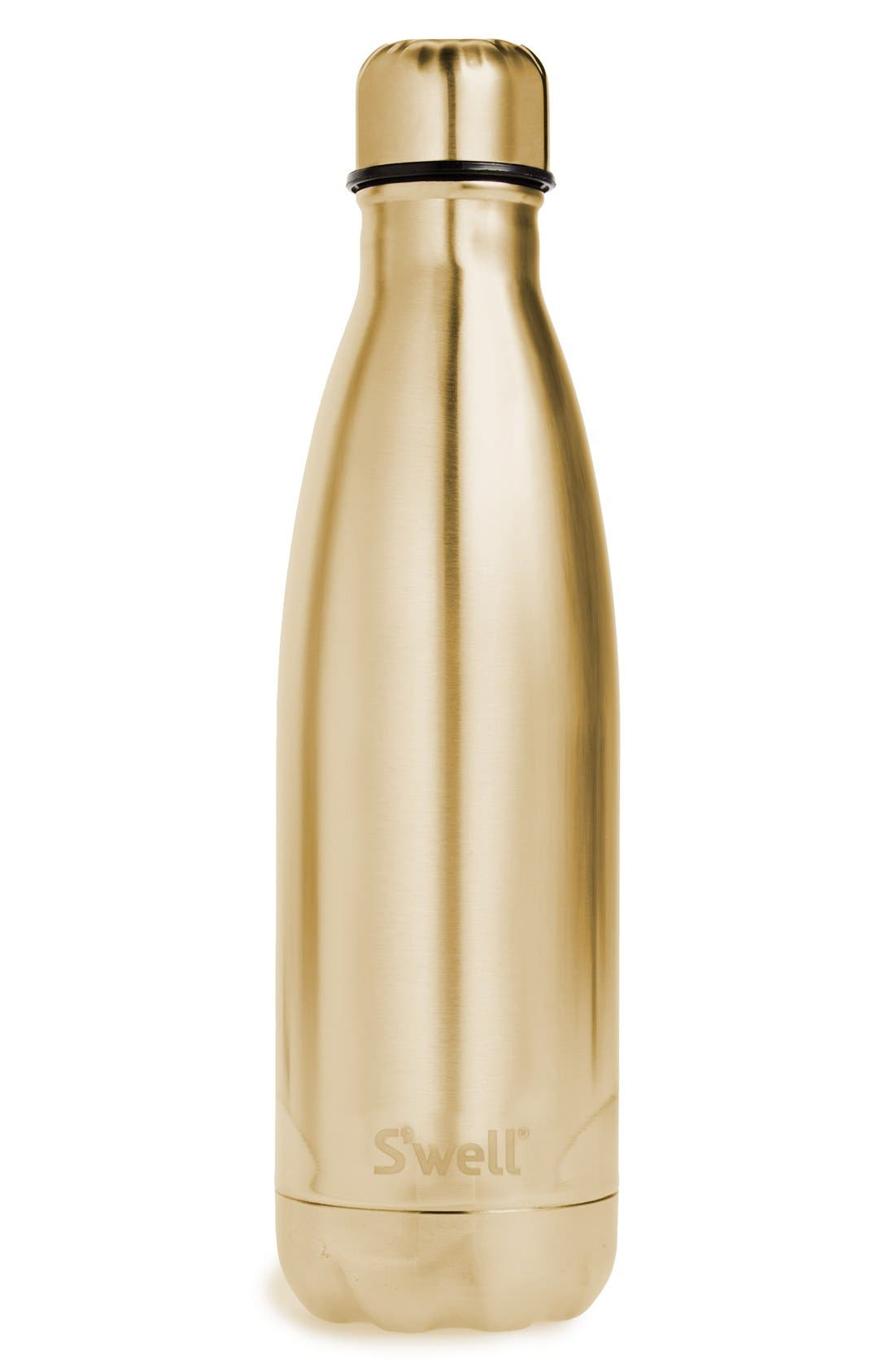 Alternate Image 1 Selected - S'well 'Metallic Collection - Yellow Gold' Stainless Steel Water Bottle
