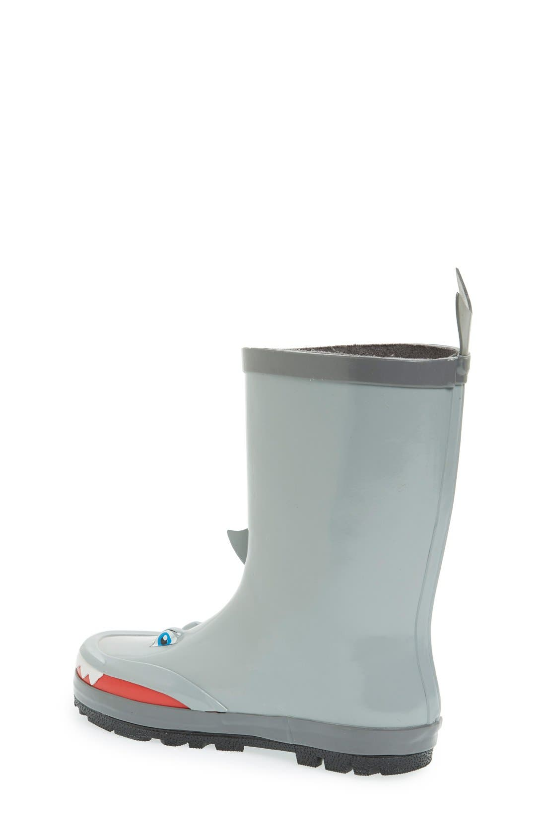 'Shark' Waterproof Rain Boot,                             Alternate thumbnail 2, color,                             Grey