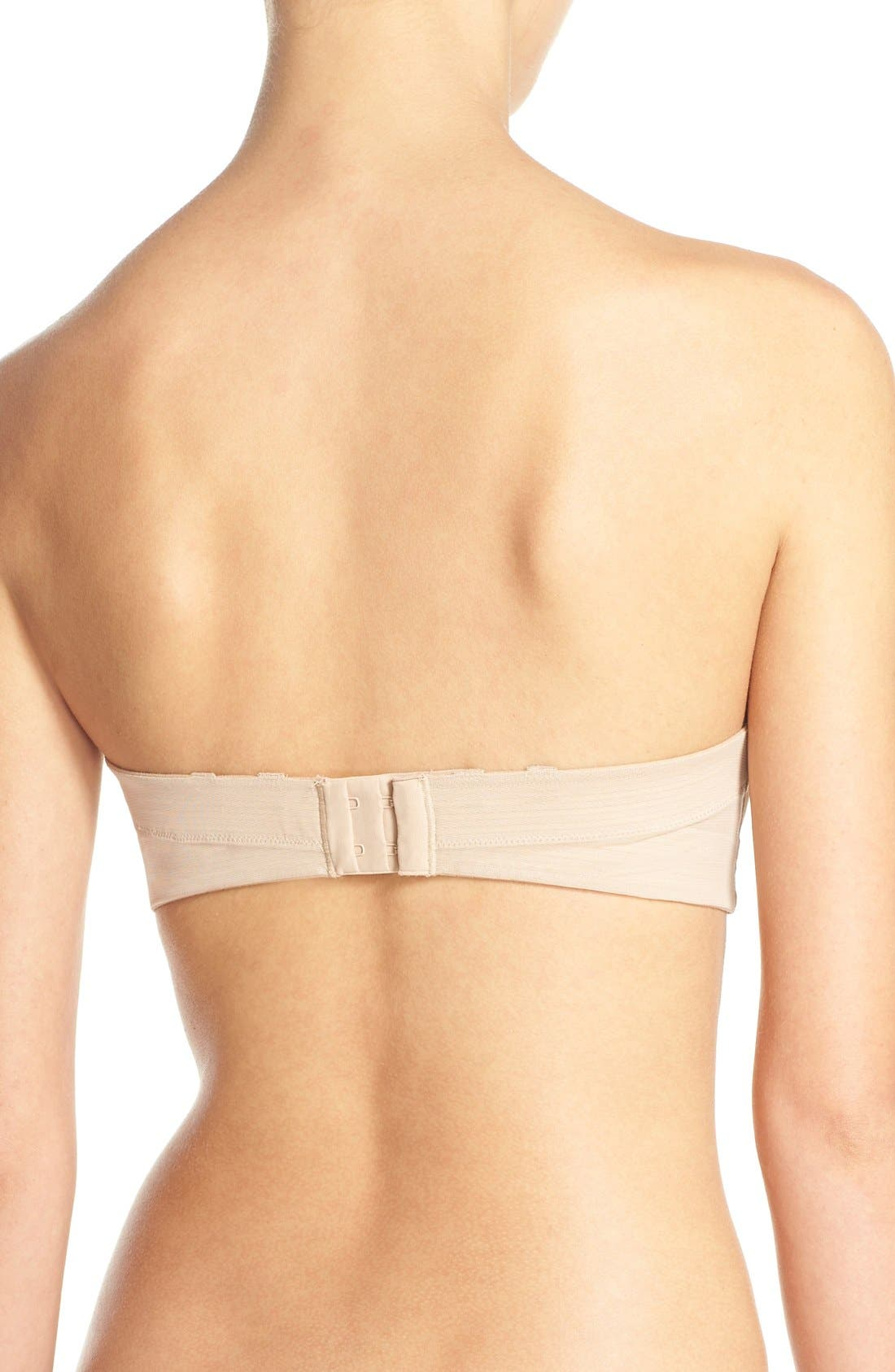 'Vous et Moi' Silicone-Free Strapless Underwire Bra,                             Alternate thumbnail 3, color,                             Ultra Nude