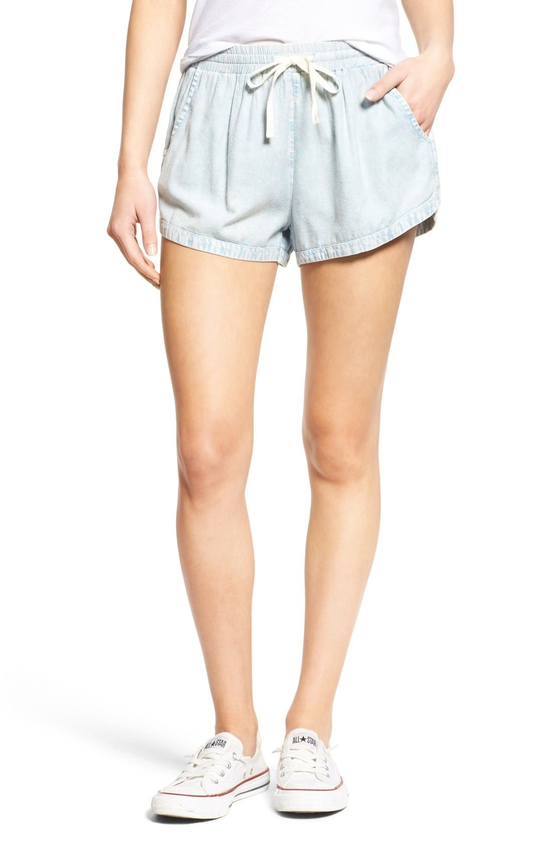 'Road Trippin' Shorts,                             Main thumbnail 1, color,                             Chambray Blue