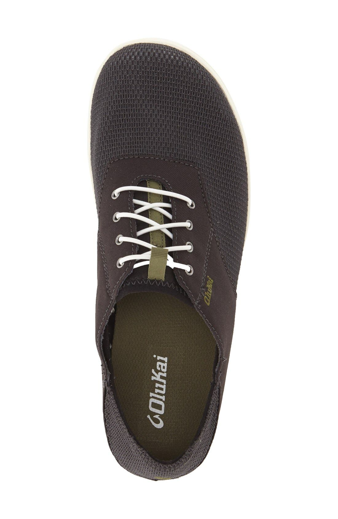 'Nohea Moku' Sneaker,                             Alternate thumbnail 3, color,                             Black/ Black