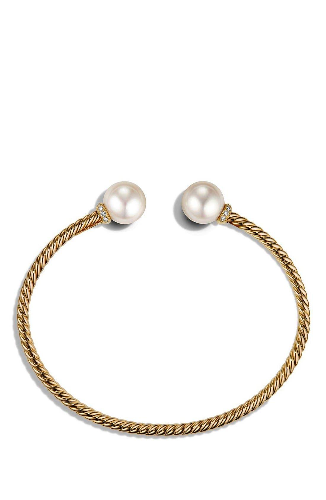 Alternate Image 2  - David Yurman 'Solari' Bead Bracelet with Diamonds and Pearls in 18K Gold