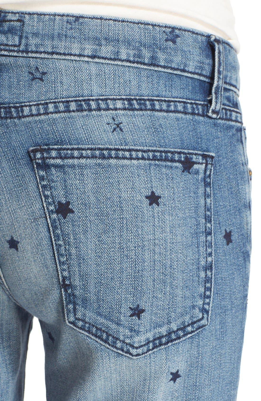 Alternate Image 4  - Current/Elliott 'The Stiletto' Star Print Skinny Jeans (Revival with Mini Navy Stars)