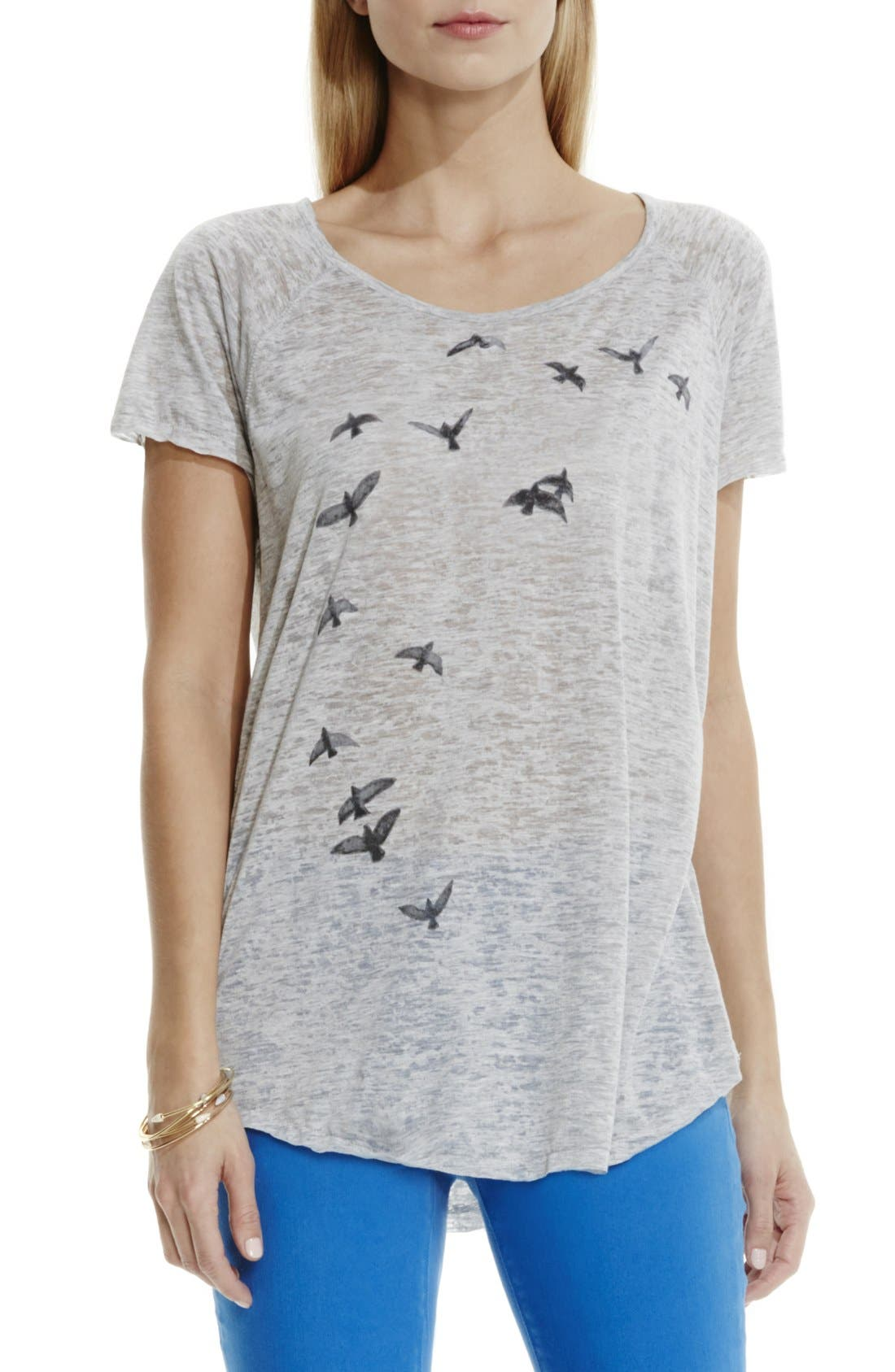 Alternate Image 1 Selected - Two by Vince Camuto 'In Flight' Burnout Tee