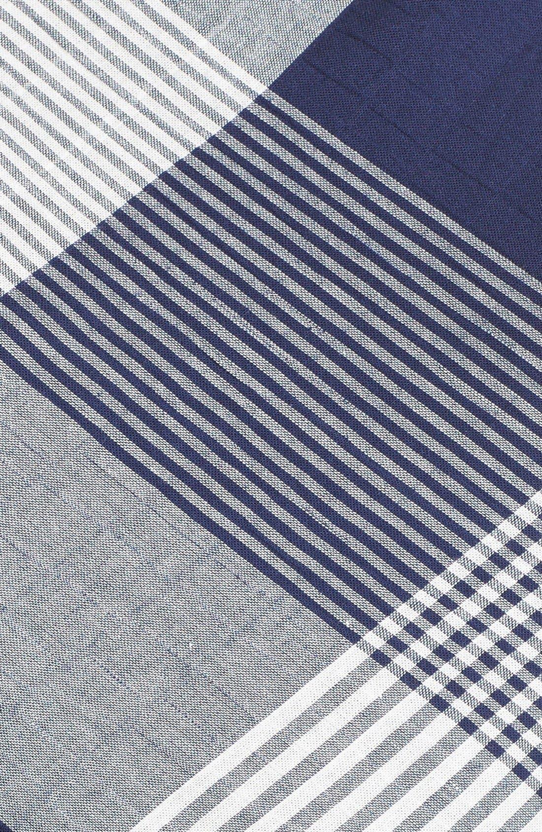 Alternate Image 5  - Taylor Dresses Check Stretch Cotton Fit & Flare Dress