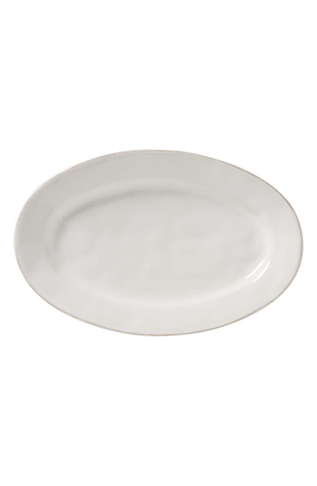 'Puro' Oval Platter,                         Main,                         color, White
