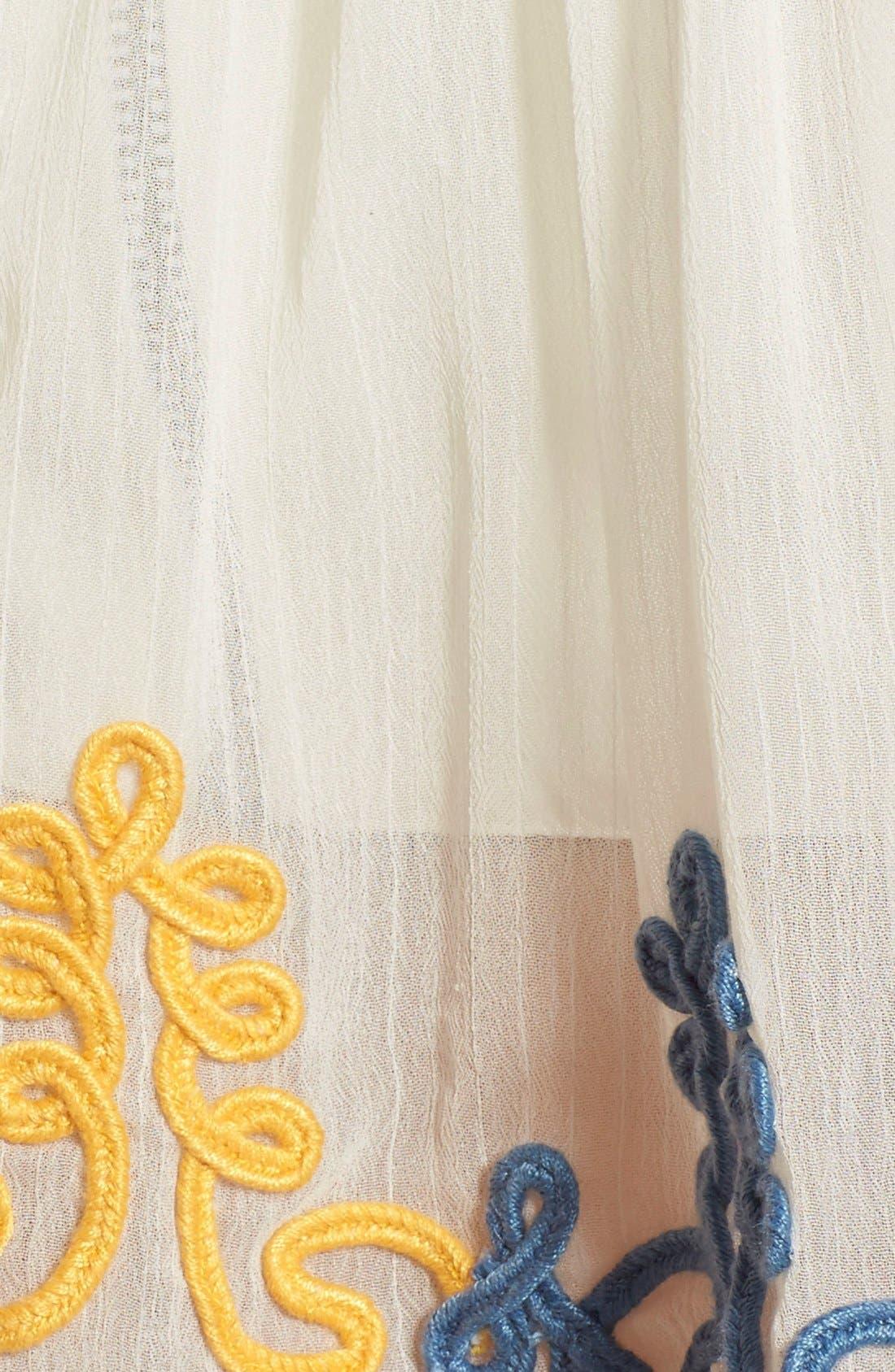 'Amelia' Embellished Off the Shoulder Crop Top,                             Alternate thumbnail 5, color,                             Butter