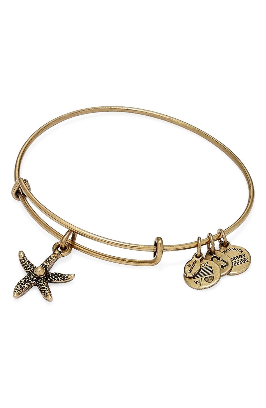 Alternate Image 2  - Alex and Ani 'Starfish' Bangle Bracelet