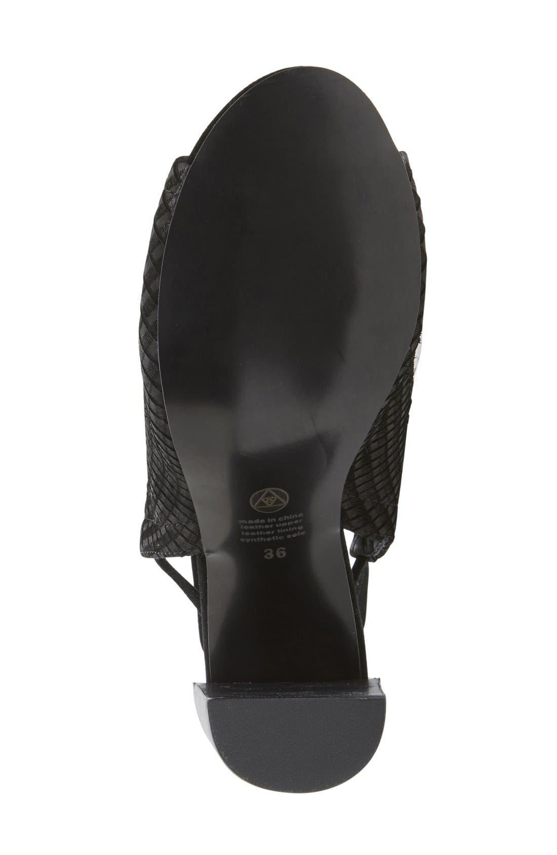 Alternate Image 4  - Urge Footwear 'Eve' Lace-Up Mule Sandal (Women)