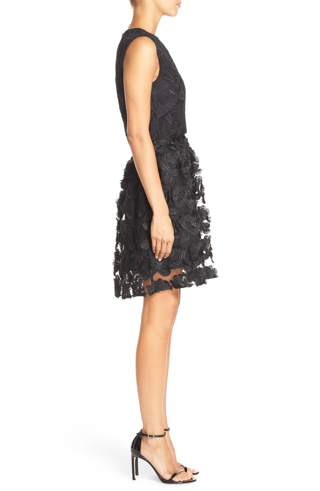 Alternate Image 3  - Ali & Jay Lace Embroidered Two-Piece Dress