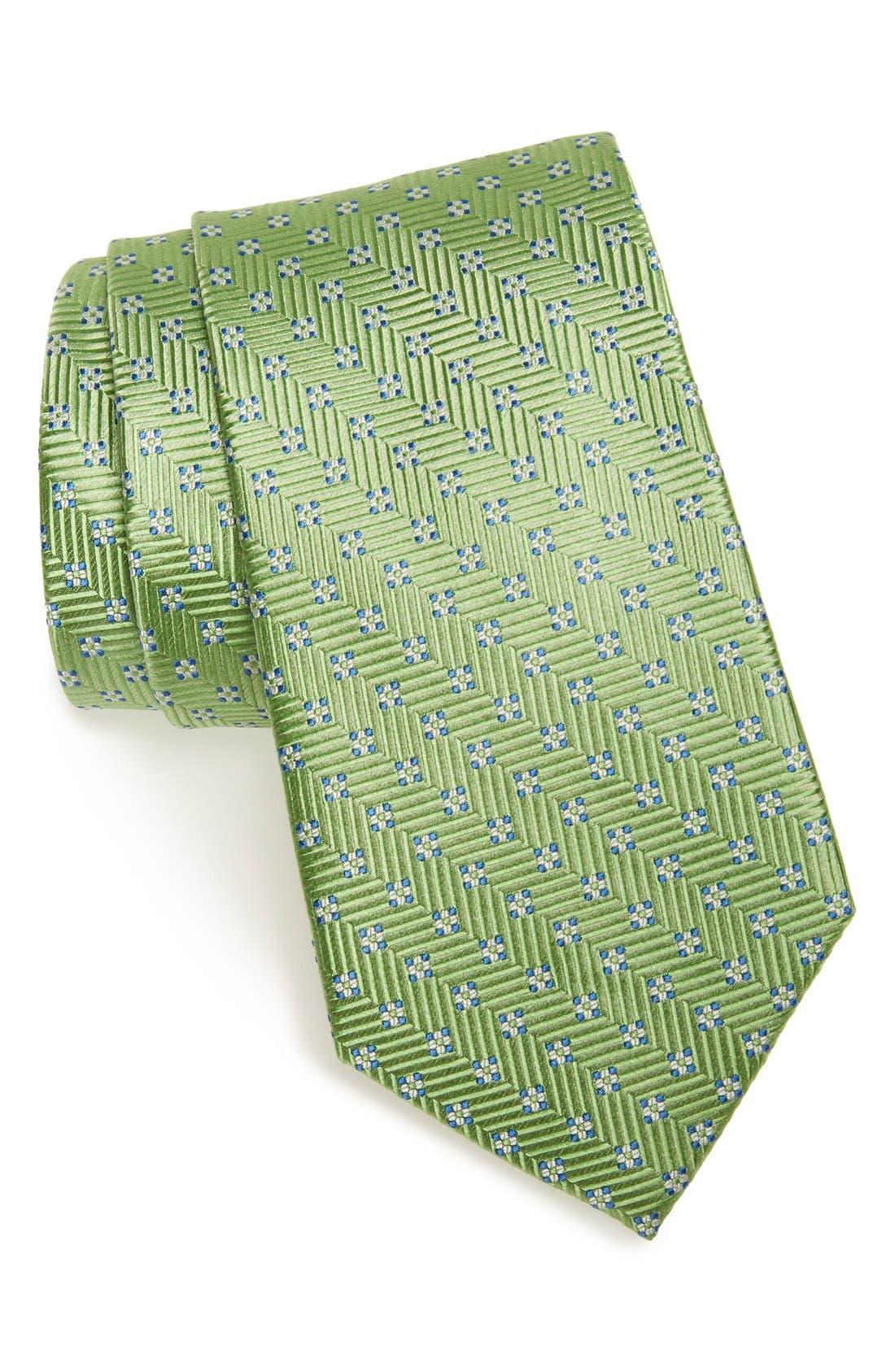 NORDSTROM MENS SHOP Grid Silk Tie