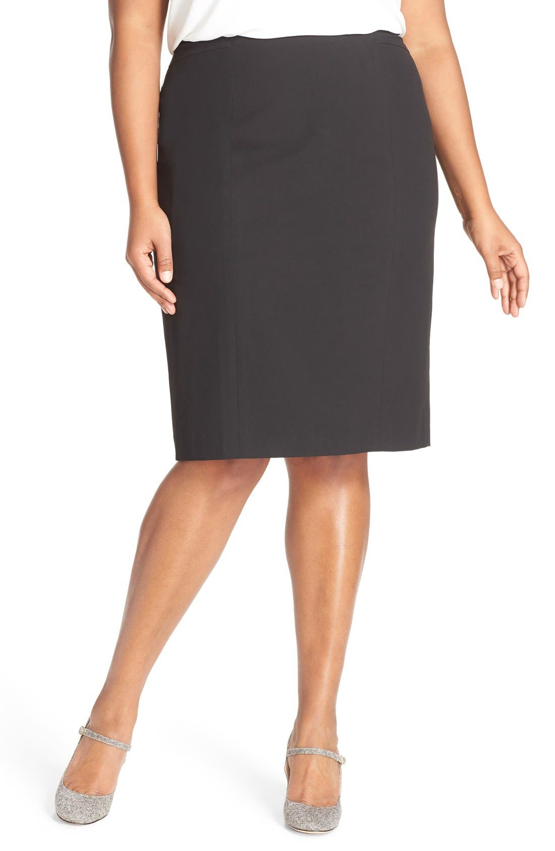 'Ela' Suit Skirt,                             Main thumbnail 1, color,                             Black