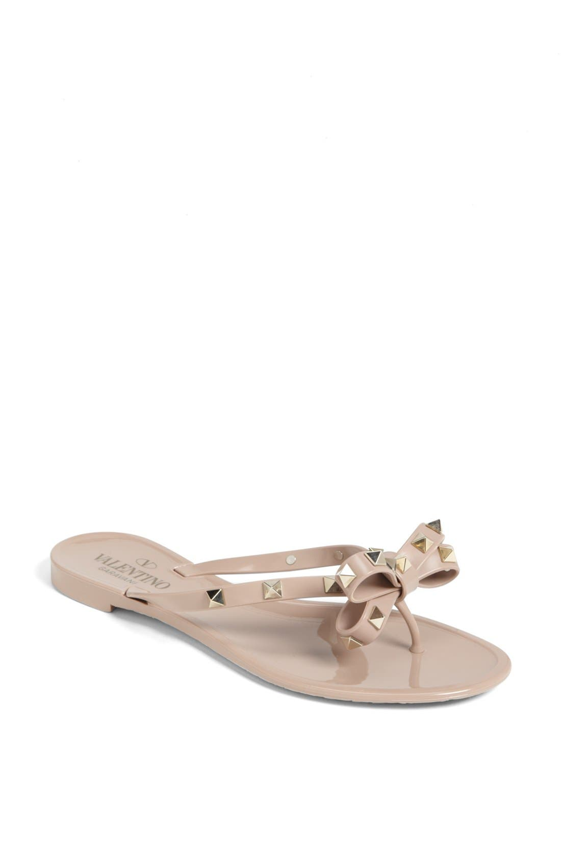 Alternate Image 1 Selected - VALENTINO GARAVANI 'Rockstud' Flip Flop (Women)