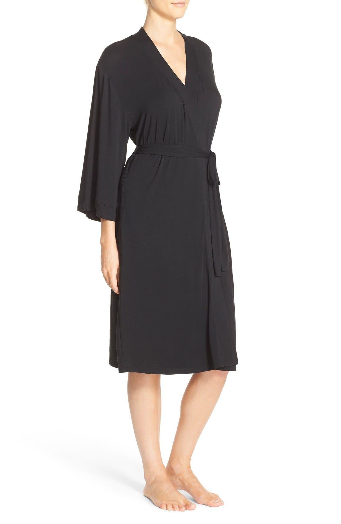 Alternate Image 3  - Nordstrom Lingerie 'Moonlight' Jersey Robe