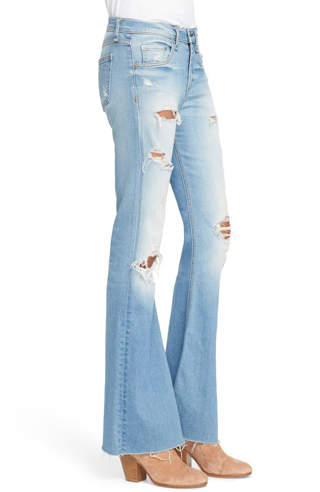 Alternate Image 3  - rag & bone/JEAN 'Beach' High Rise Bell Bottom Jeans (Ryder)