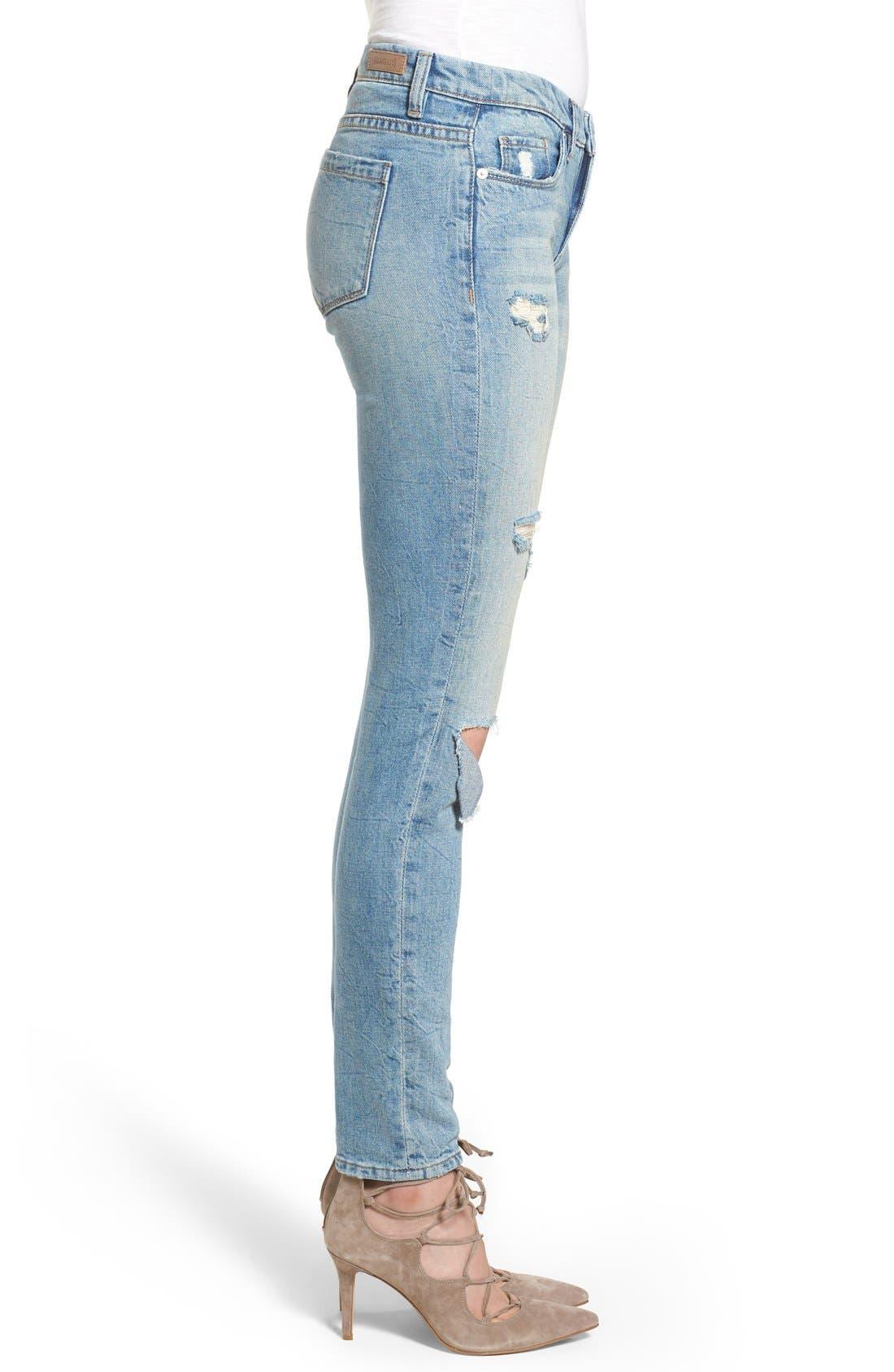 Alternate Image 4  - BLANKNYC 'Skinny Dipper' Distressed Skinny Jeans