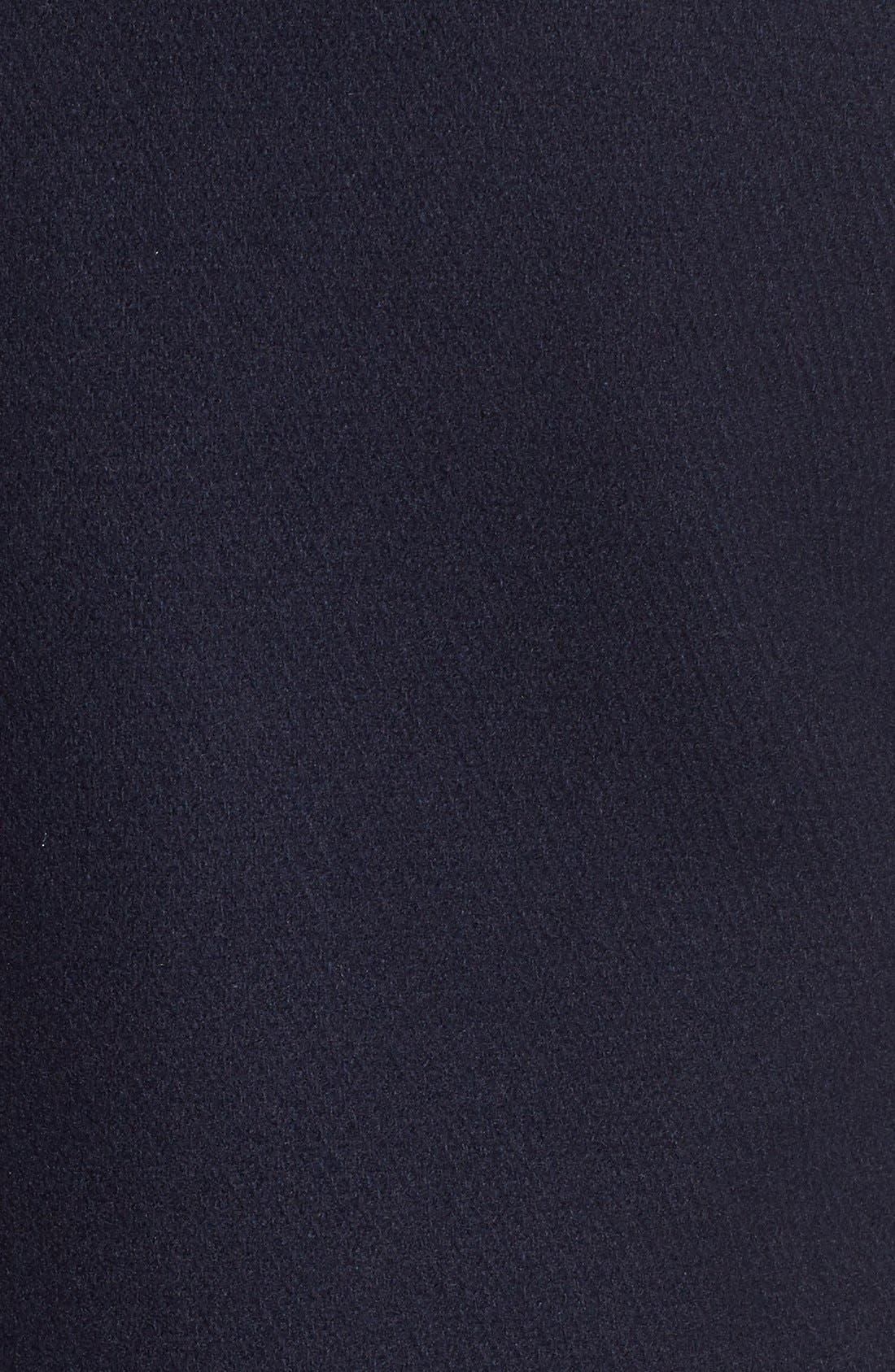 Wool Blend Peacoat,                             Alternate thumbnail 5, color,                             Utility Blue