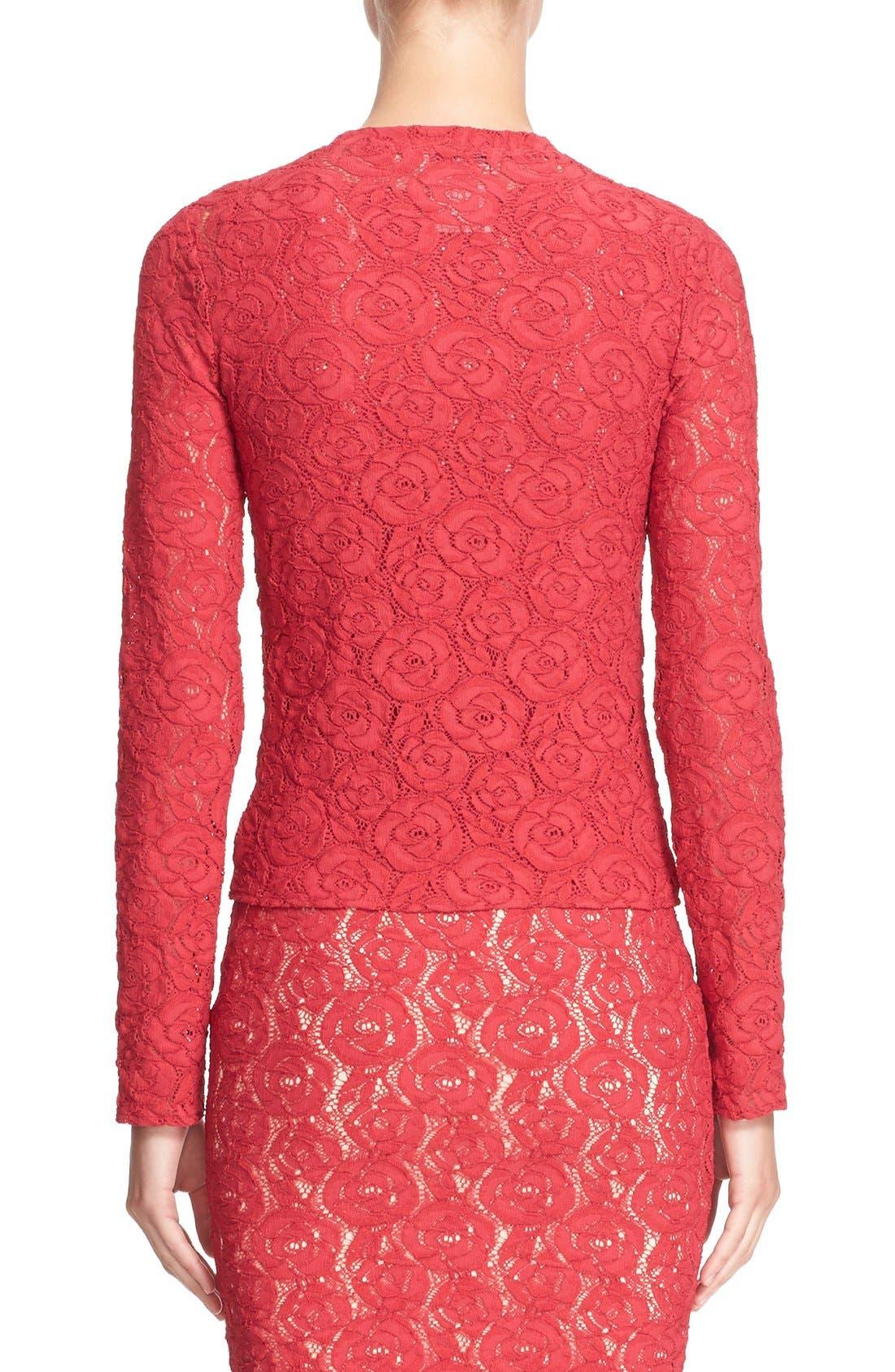 Alternate Image 2  - Fuzzi Floral Lace Cardigan