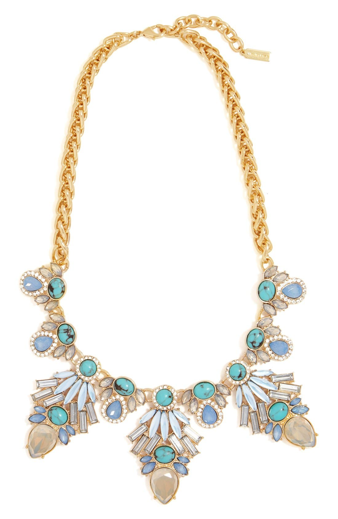 'Baltic' Collar Necklace,                             Main thumbnail 1, color,                             Gold/ Turquoise