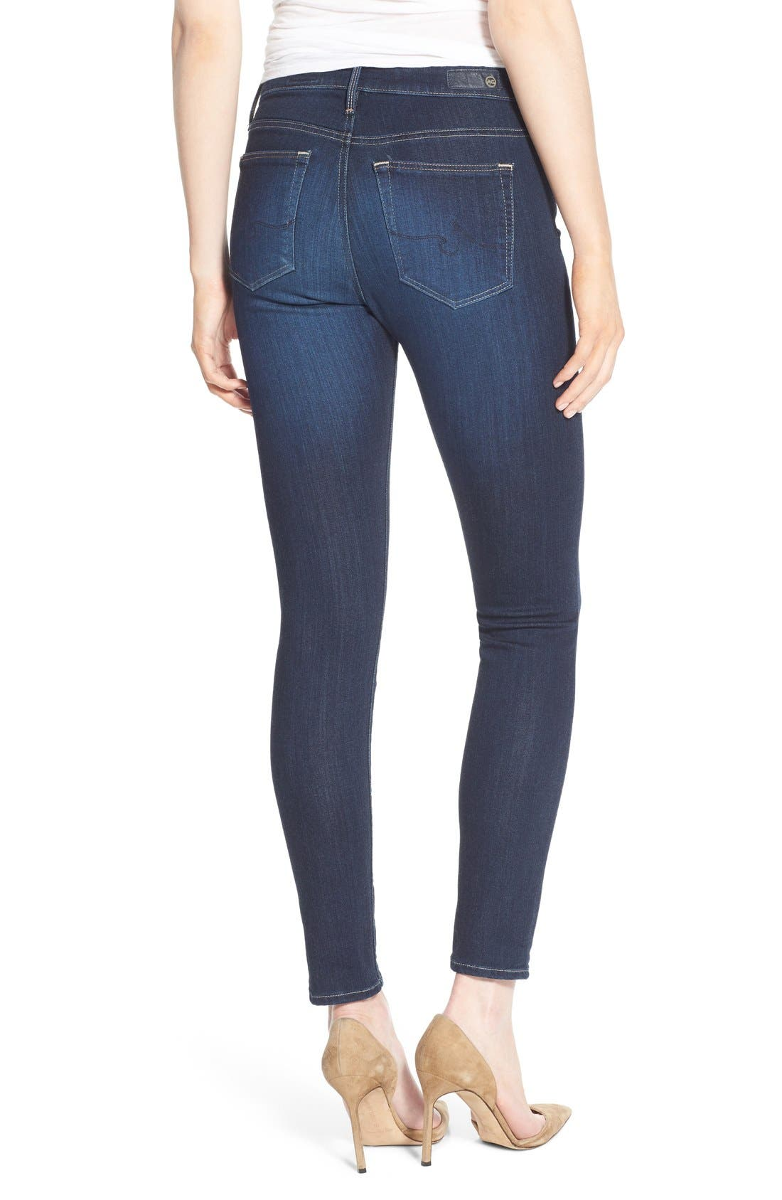 Alternate Image 2  - AG 'The Farrah' High Rise Crop Skinny Jeans