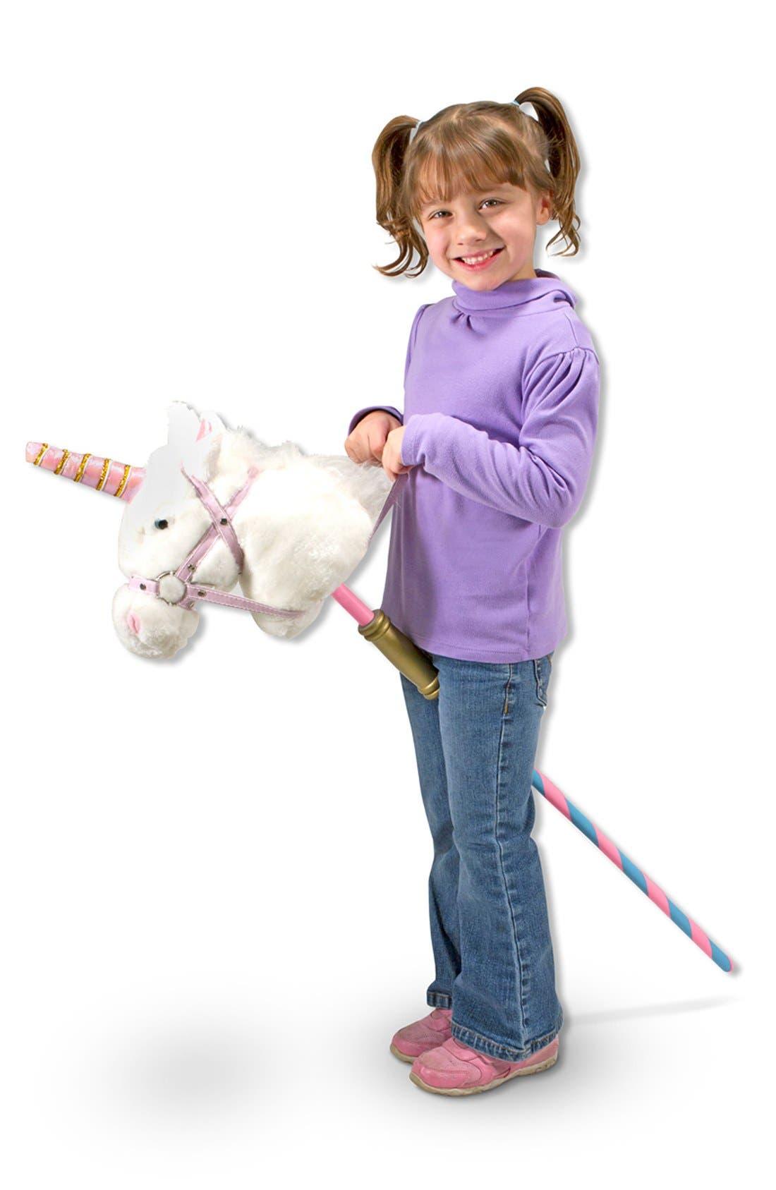 'Prance-n-Play' Stick Unicorn,                             Alternate thumbnail 2, color,                             Pink