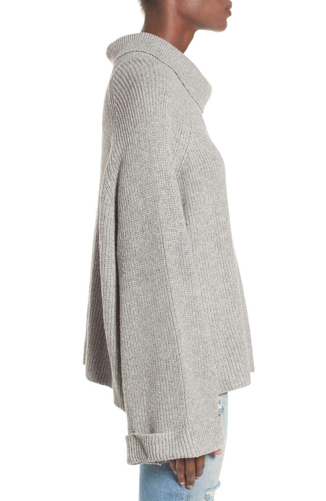 Alternate Image 3  - Leith Cowl Neck Shaker Pullover