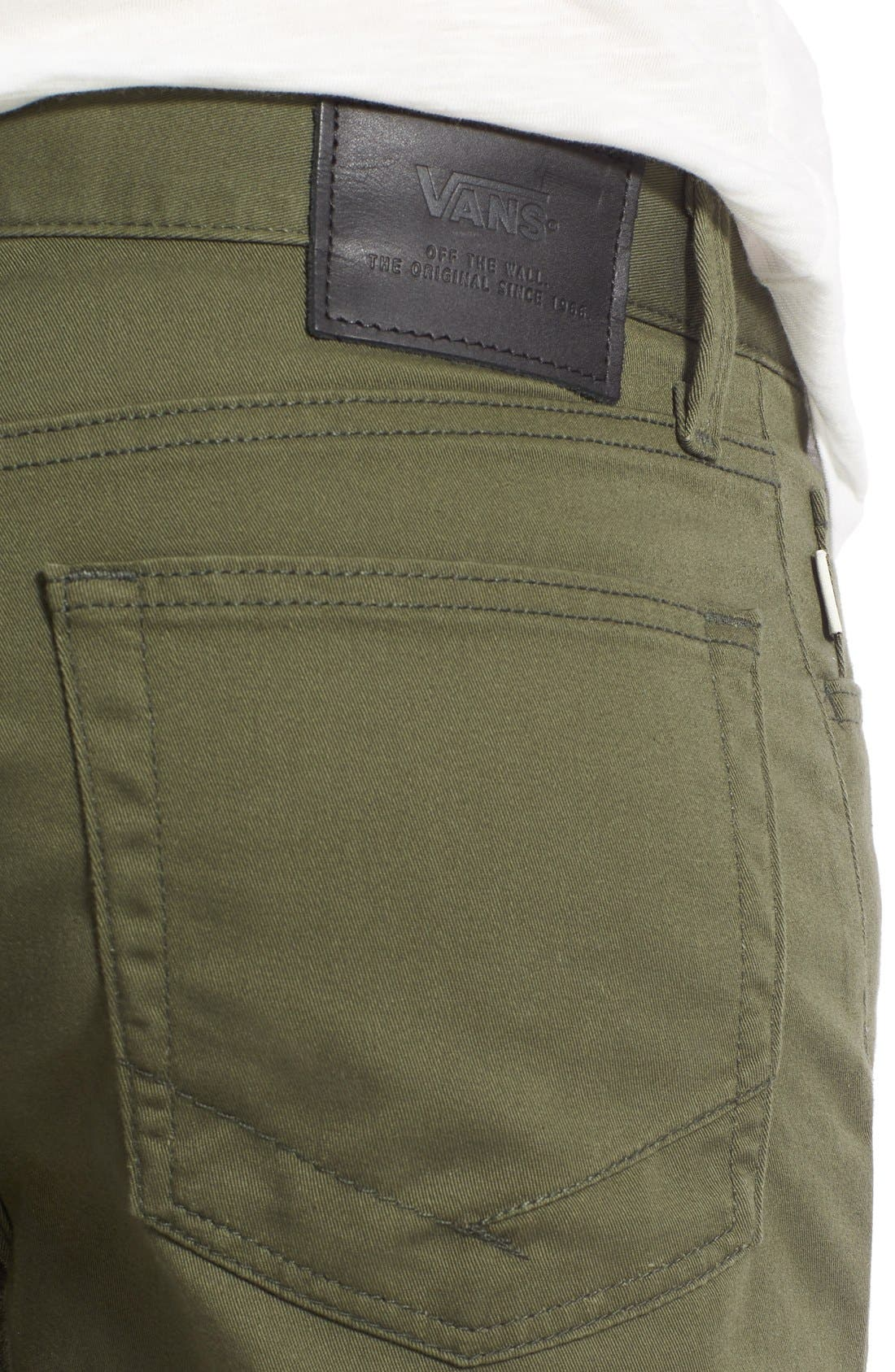 'Covina II - Anthony Van Engelen' Twill Shorts,                             Alternate thumbnail 4, color,                             Grape Leaf