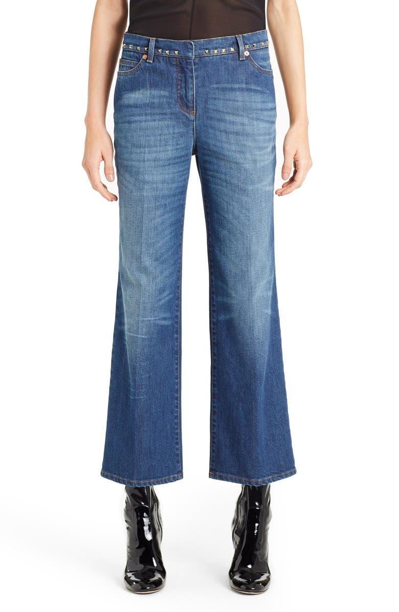Studded Wide Leg Jeans