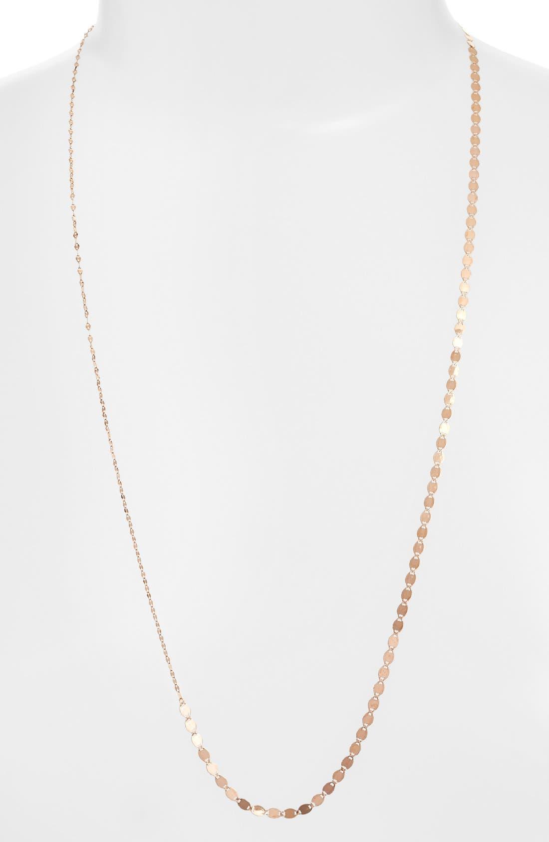 'Long Vanity' Strand Necklace,                             Main thumbnail 1, color,                             Rose Gold