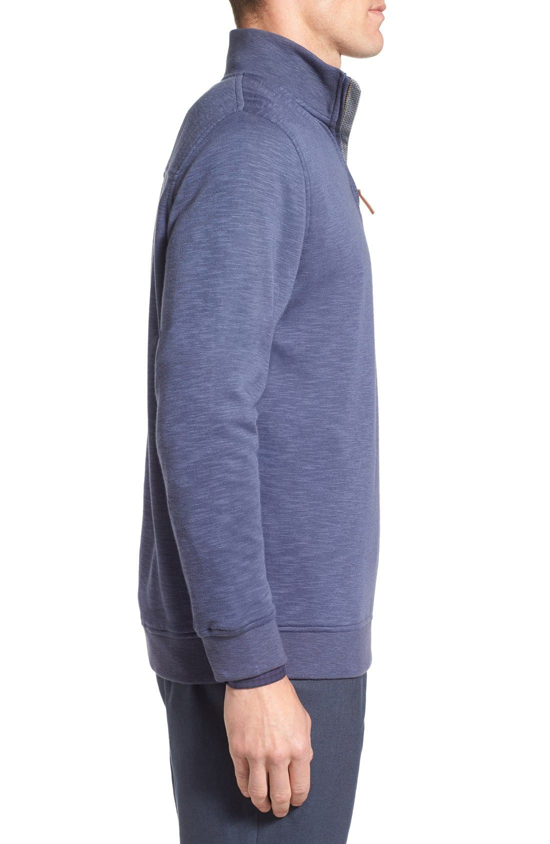 'Mandra' Quarter Zip Pullover,                             Alternate thumbnail 3, color,                             Dark Blue