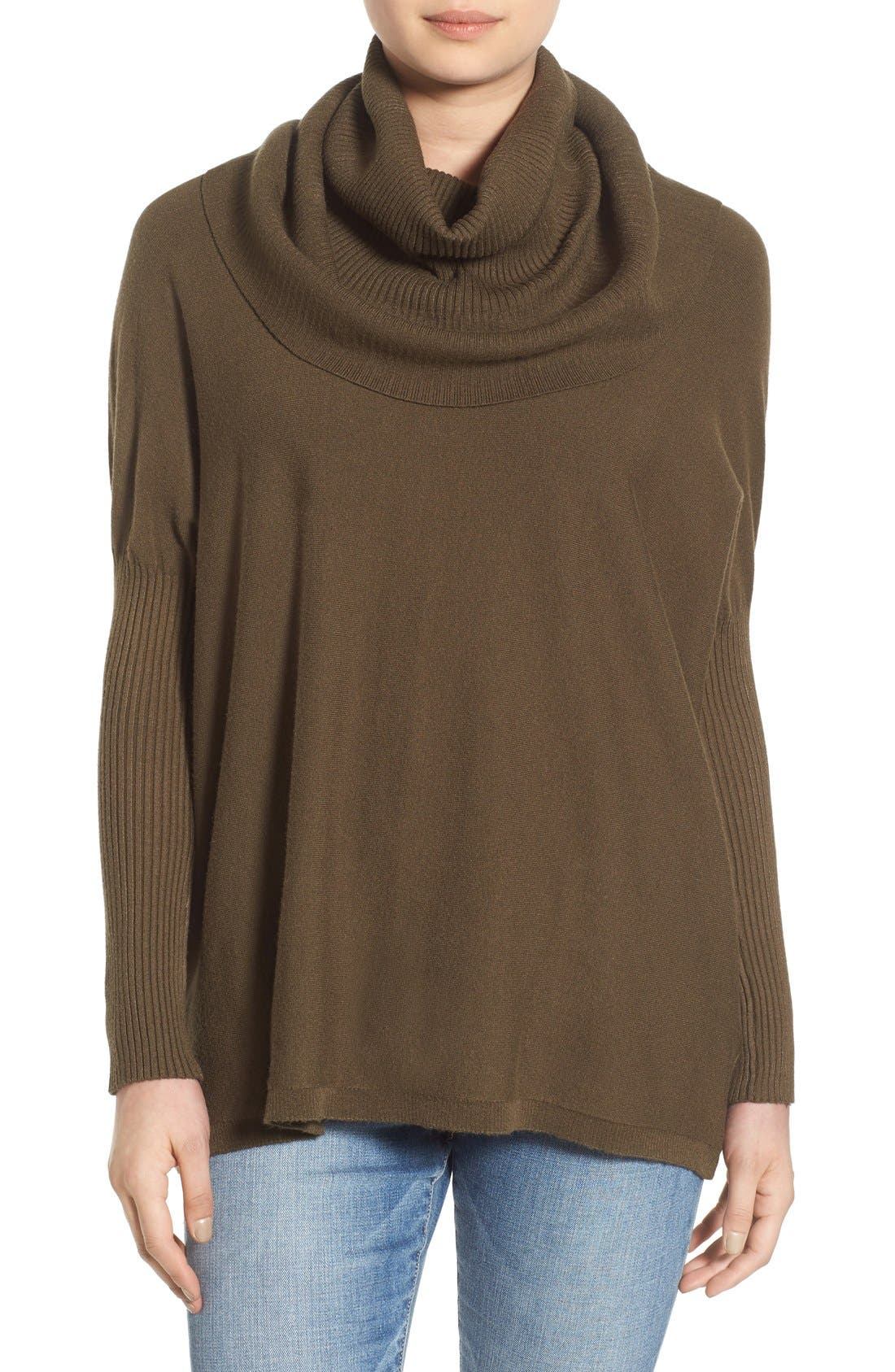 Alternate Image 1 Selected - Dreamers by Debut Cowl Neck Boxy Pullover