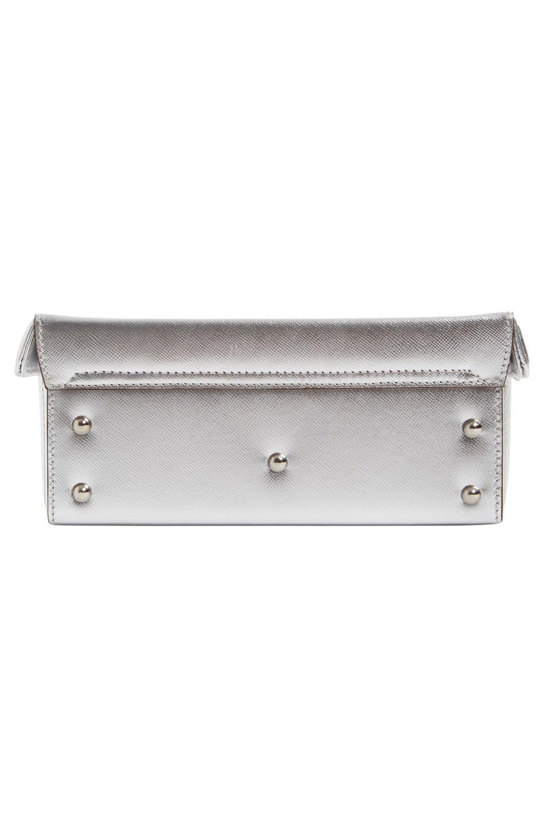 Alternate Image 5  - Mark Cross 'Small Grace' Metallic Saffiano Leather Box Clutch