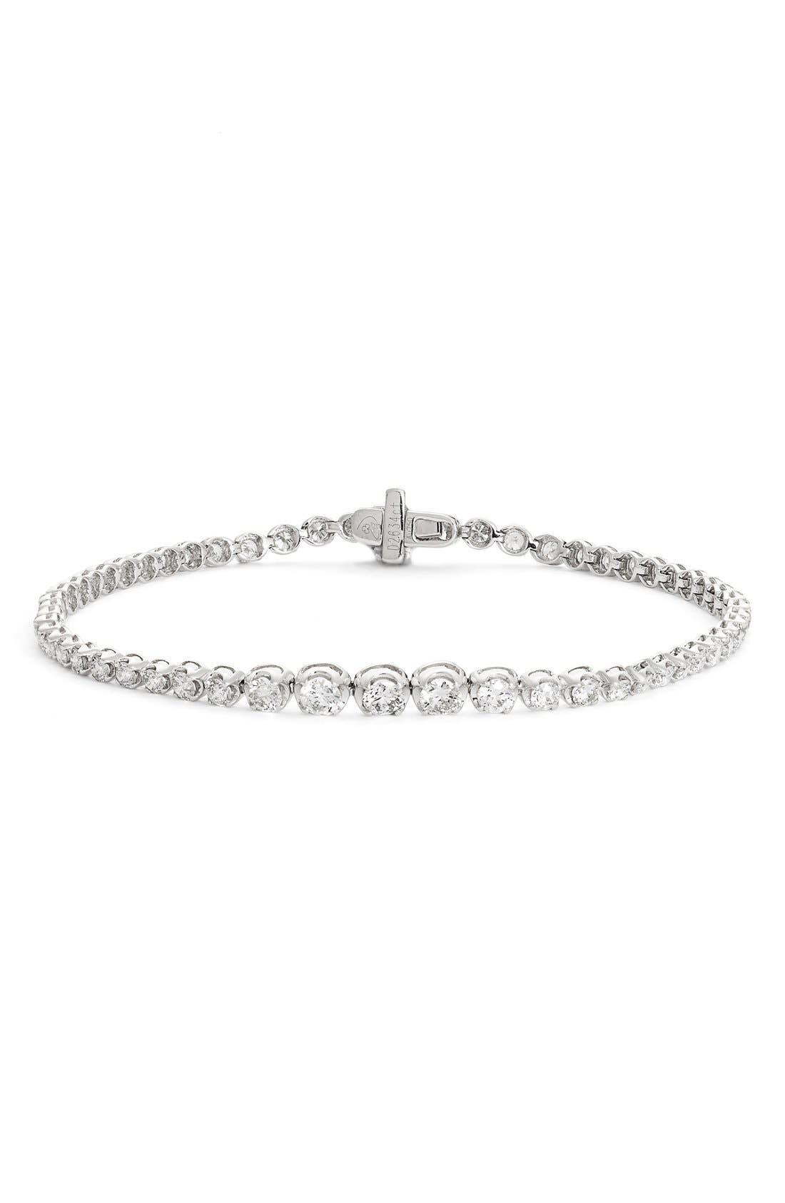 Liora Diamond Tennis Bracelet,                         Main,                         color, White Gold